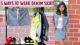 Denim Skirt Outfit Ideas 2018 - How to Wear & Style Denim Skirt SS2018 | AdityIyer #Stylewithadity