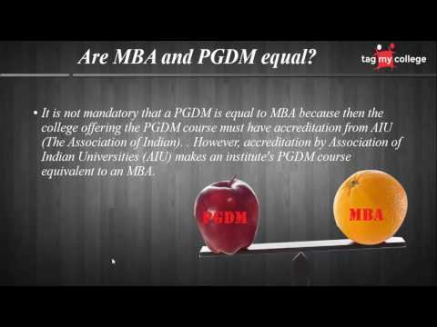 MBA v/s PGDM: What should you choose?
