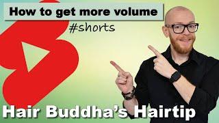 Do you want more volume? #shorts Hair Buddha hairtip for fine hair