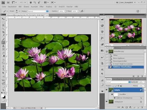 Photoshop Tutorial - Bilder schärfen - Deutsch