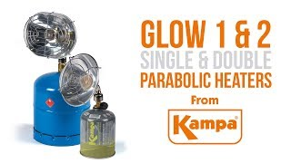 Kampa | Glow 1 & 2 Single & Double Parabolic Heaters | Product Overview