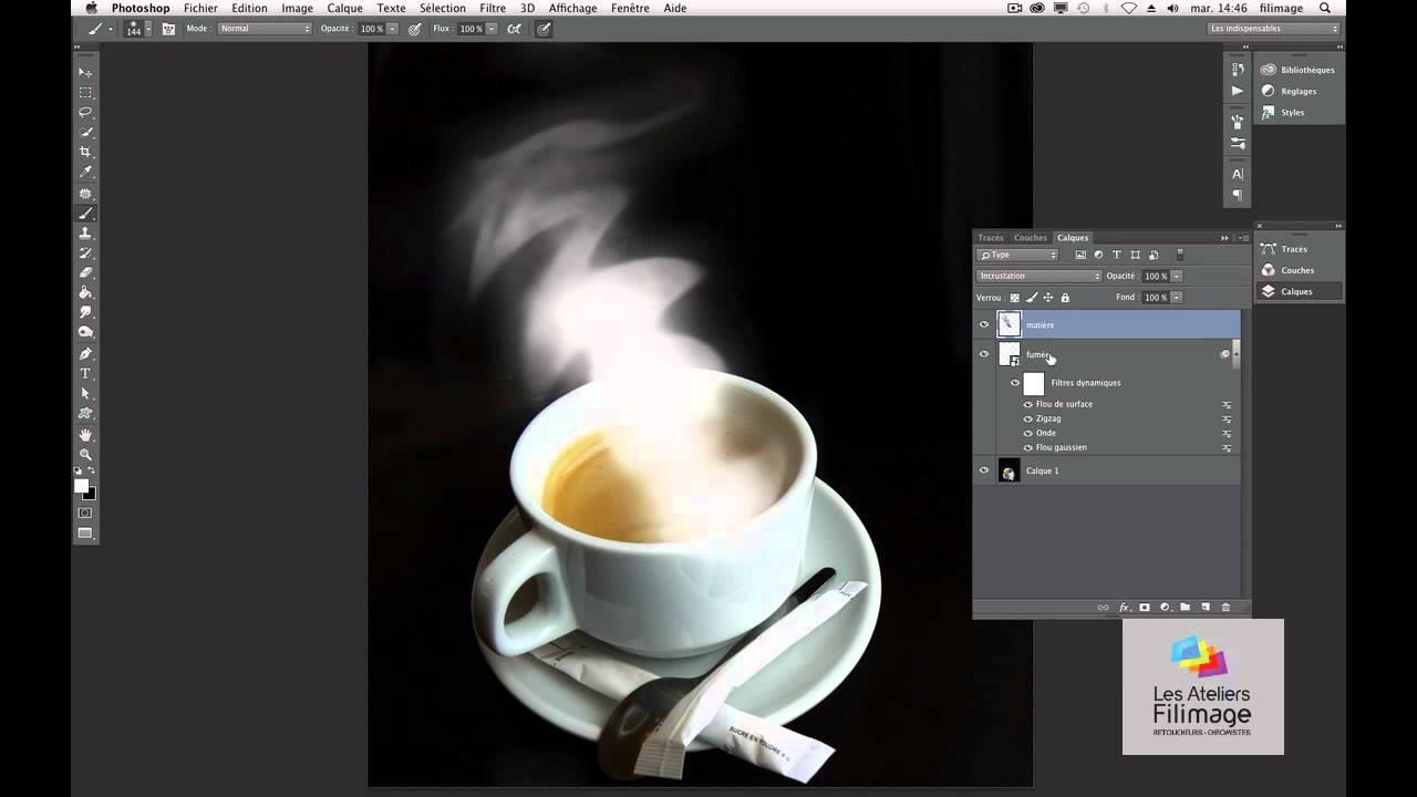 filimage effet fum e photoshop tuto gratuit youtube. Black Bedroom Furniture Sets. Home Design Ideas