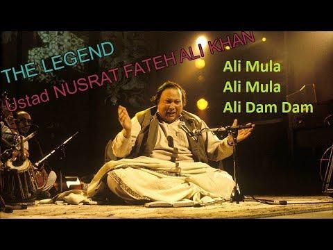 Ali Maula Ali Maula Ali Dam Dam with lyrics Ustad Nusrat Fateh Ali Khan
