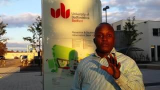 Hon David Ochola at the University of Bedfordshire UK