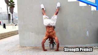 How to do a handstand pushup- advanced hand stand push ups tutorial by Calypso Tumblers