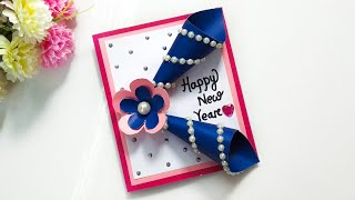 DIY Greeting Cards for New Year Beautiful Handmade Happy New Year 2020 Card Idea
