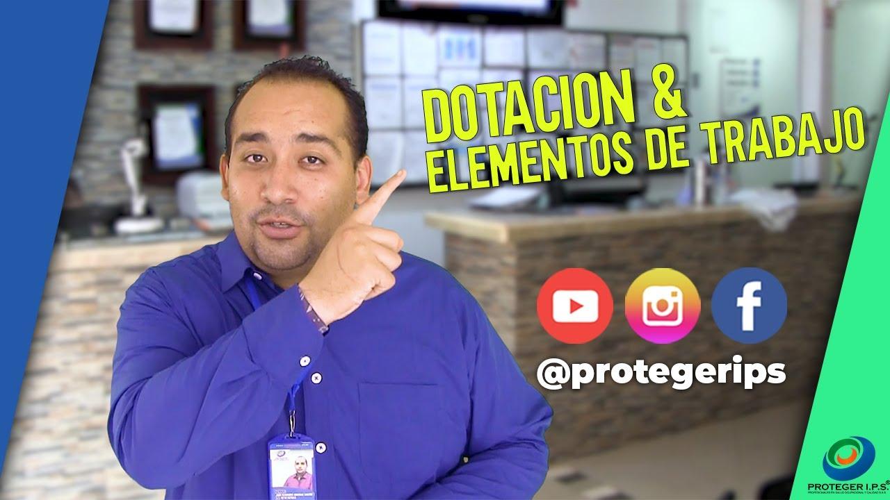 DOTACIÓN Y ELEMENTOS DE TRABAJO EN APOCA DE COVID-19