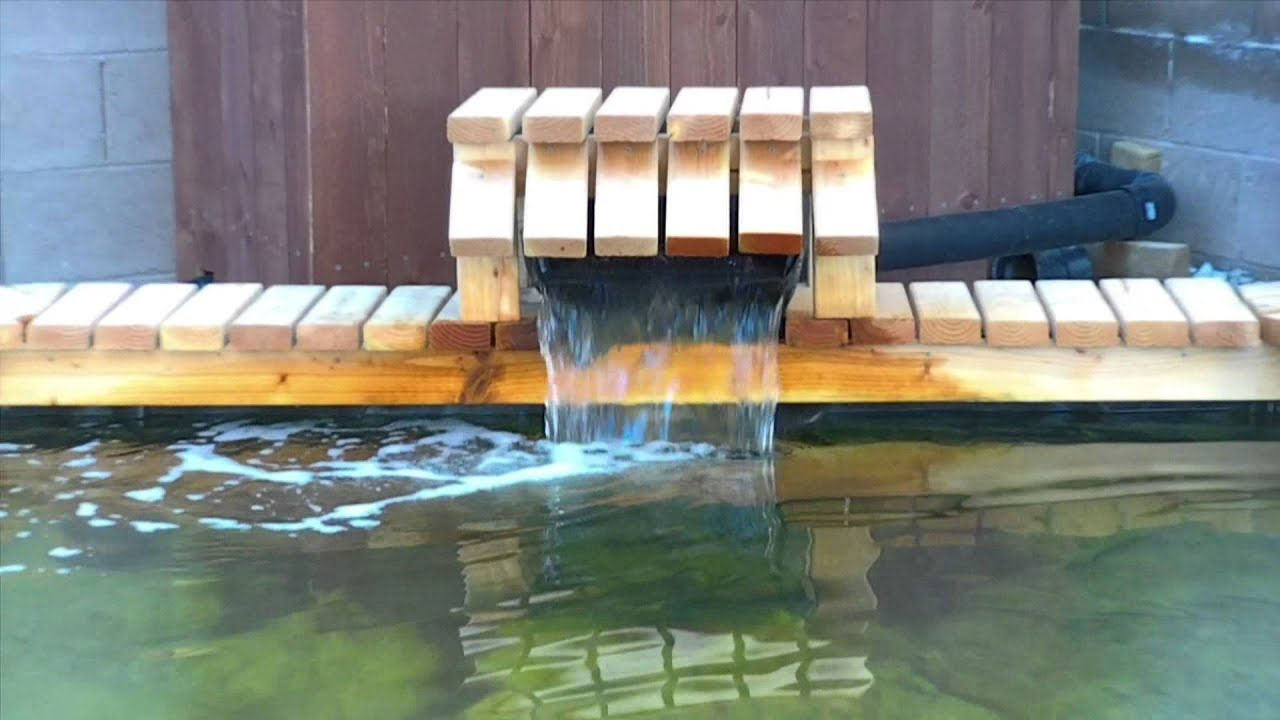 Pond simple waterfalls youtube for Wooden pond waterfalls