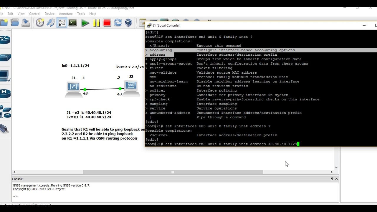 Juniper JNCIA (JN0-102) Training Video OSPF Configuration