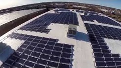 Aerial video of 285kw solar installation in Commack, NY