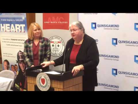 Quinsigamond Community College President Gail Carberry Talks About The Joint Public Safety Program B