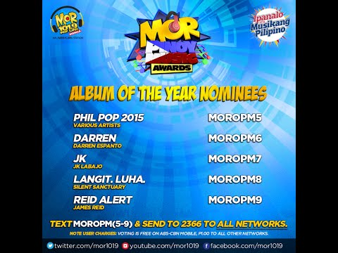MOR Pinoy Music Awards Album Of The Year Nominees