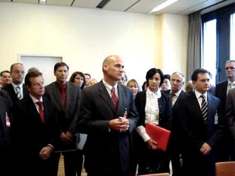 Administrator D'Agostino delivers remarks at the Serbia-Russian Federation HEU signing ceremony