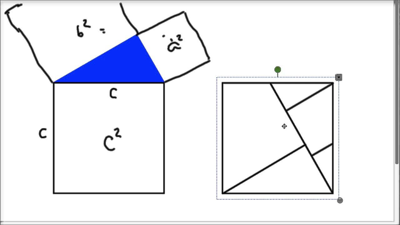 Grade 8 Proof of Pythagoras Theorem YouTube – Pythagorean Theorem Proof Worksheet