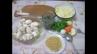 Грибной суп из шампиньонами