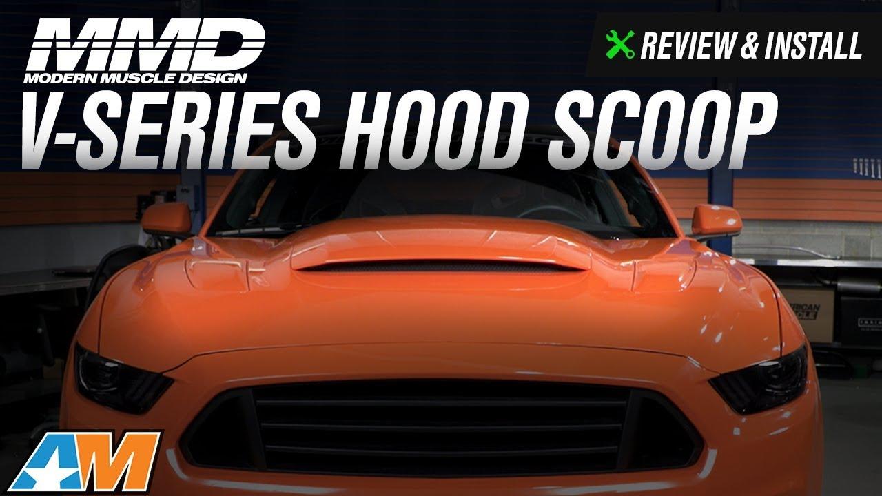2016 Mustang Hood Scoop >> 2015-2017 Mustang MMD V-Series Hood Scoop Review & Install - YouTube