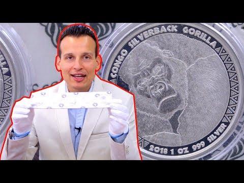 Silbermünze | Silberrücken-Gorilla 2018 | 1 Unze Silber Prooflike