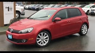 2012 Volkswagen Golf TDI W/ Heated Seats, Moonroof Review| Island Ford
