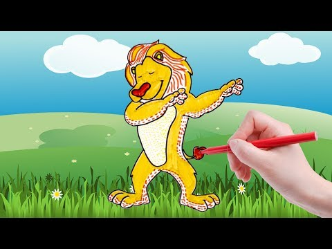 African Animal Lion Coloring Page for Kids  (Creative Coloring)