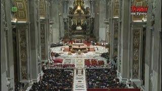 Pierwsze Nieszpory Uroczystości Bożej Rodzicielki Maryi przewodnictwem Ojca Świętego Franciszka