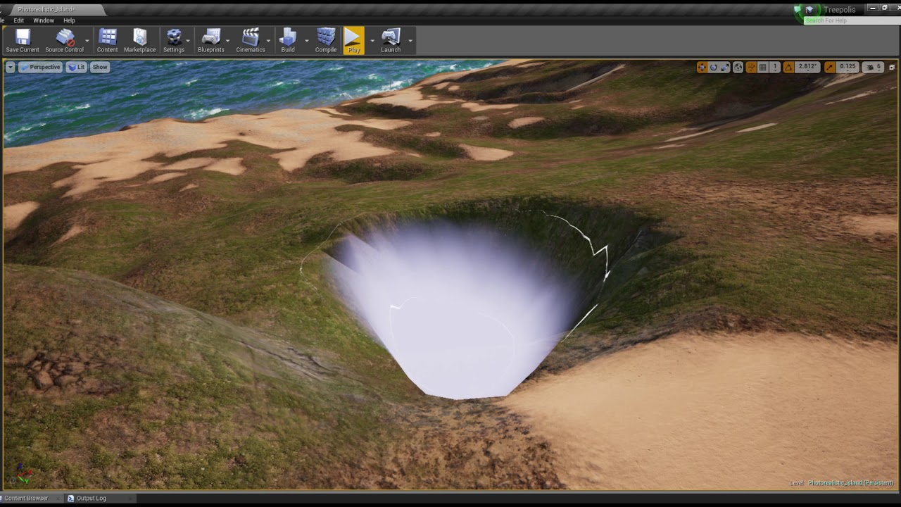 Trinity Mysterious System – Editing a landscape, Unreal Engine 4