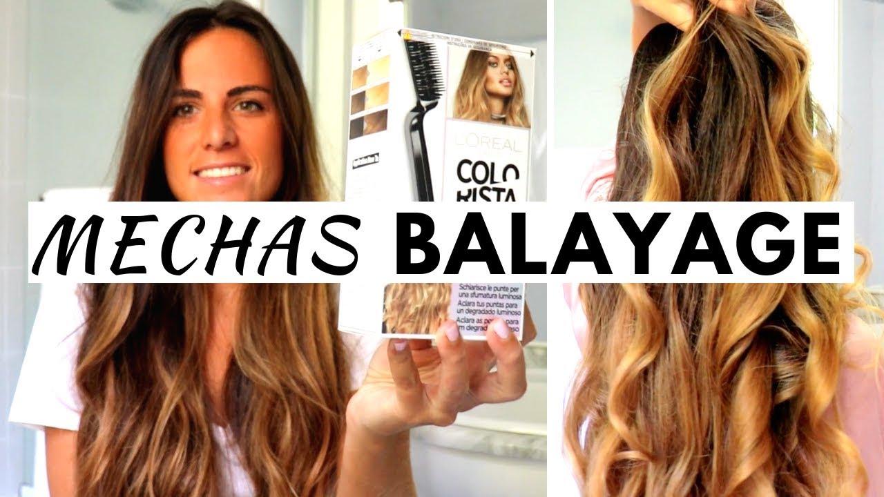 Cómo hacer mechas Balayage ♥ en pelo oscuro