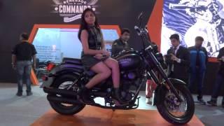 Girl on Renegade Commando 2014 at 12th Auto Expo 2014 The Motor Show Greater Noida