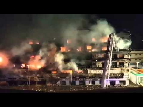 Fire hits building near Muraqqabat police station
