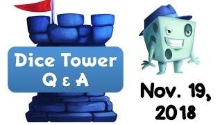 Live Q & A with Tom Vasel - November 18, 2018