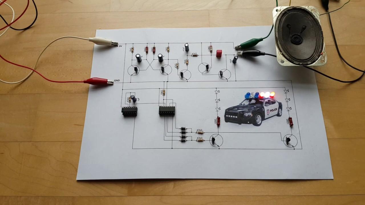 modellbau tutorial blaulicht und sirene polizeiauto usa. Black Bedroom Furniture Sets. Home Design Ideas