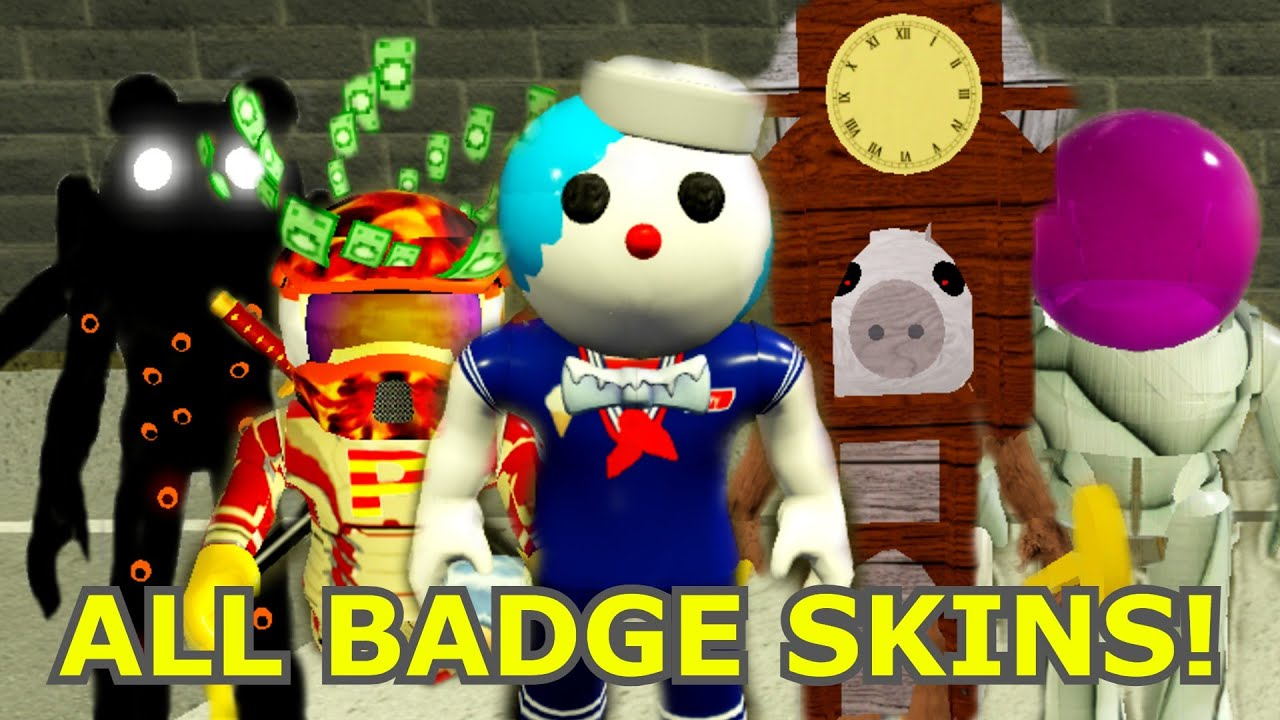 Download How to get ALL 8 BADGE MORPHS/SKINS in PIGGY FANMADE MAPS! - Roblox