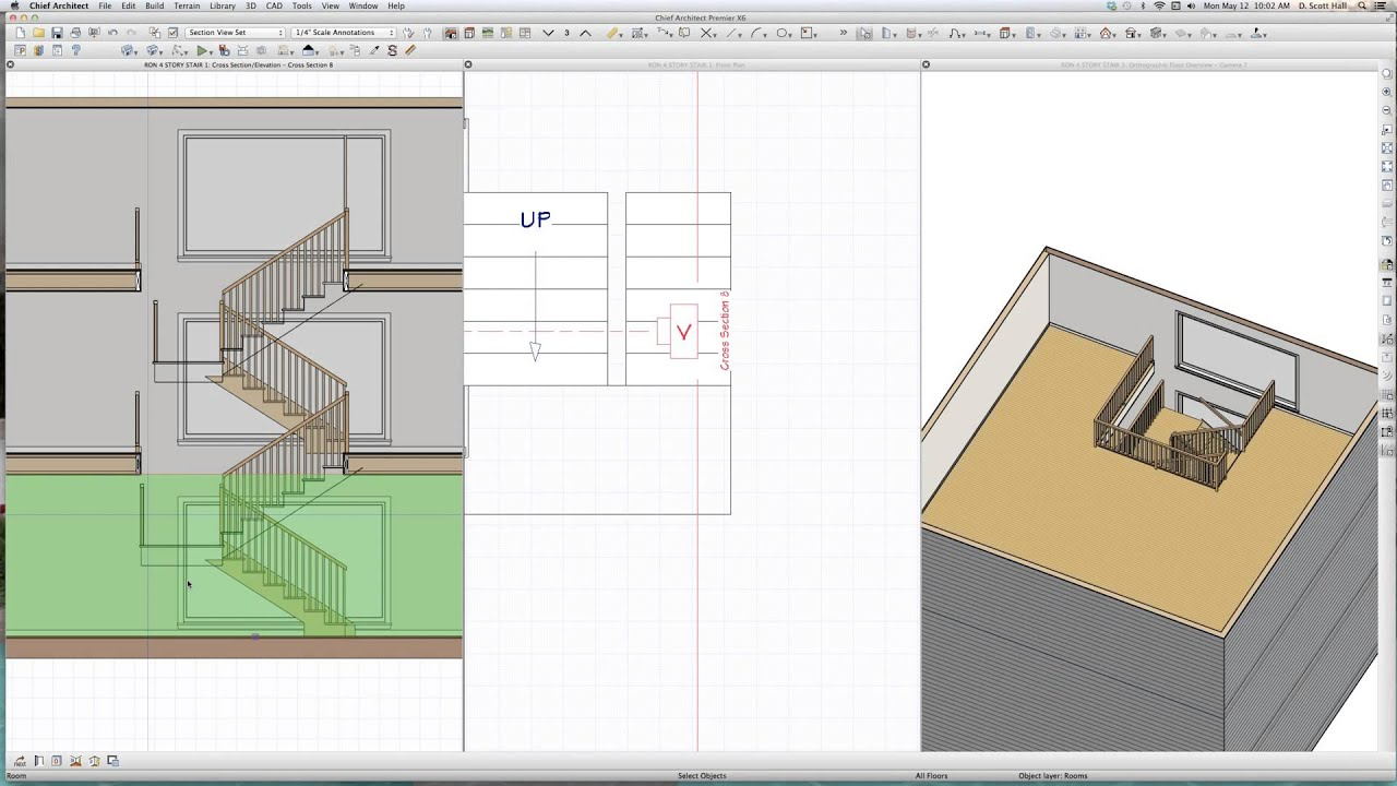 small resolution of building stacked stairs in a 3 story chief architect videos by dsh