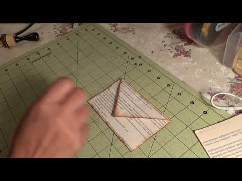 DIY Magnetic Book Page Envelope For Your Junk Journal