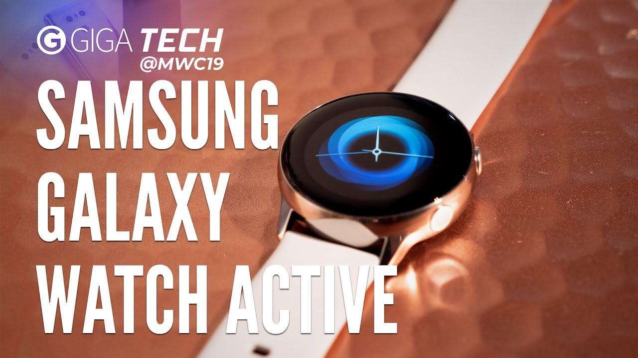 SAMSUNG GALAXY WATCH ACTIVE Hands-on (deutsch): Geht Samsung-Smartwatch auch OHNE Lünette? – GIGA.DE