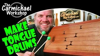 Building And Tuning Tongue Drums, Slit Drums, Xylodrums - Easy Woodworking Music Project