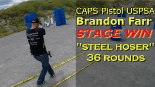 CAPS Pistol USPSA Practical Shooting Sports Competition Video Polish Irish Plate Rack