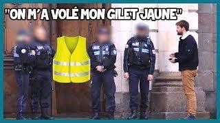Demander un gilet jaune aux policiers - Défi Prank - Les Inachevés