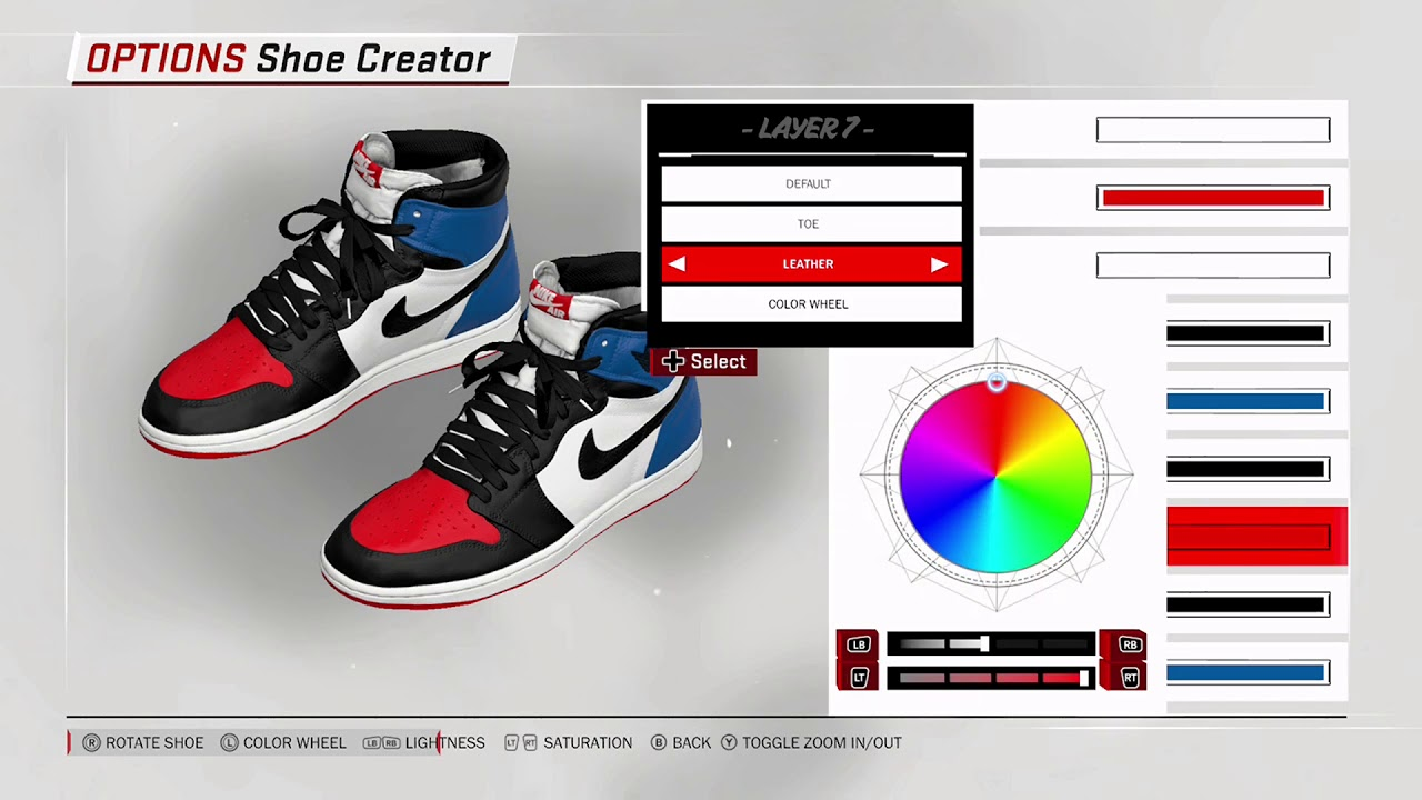 NBA 2K18 Shoe Creator Air Jordan 1