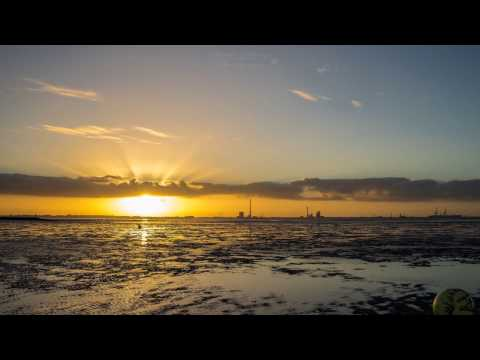 Timelapse Nordsee direction Wilhelmshaven Germany