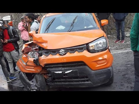 First Accident Of Maruti Spresso