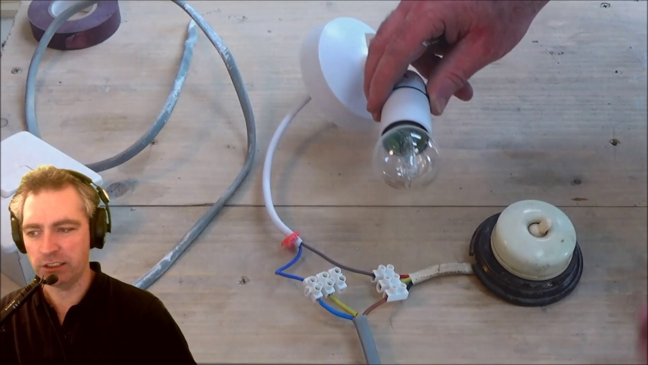 Wiring An Antique Light Switch To A Simple Curcuit Youtube Basic Electrical