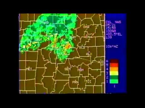 Centreville, AL Radar and NOAA Wx Radio - 5/27/90