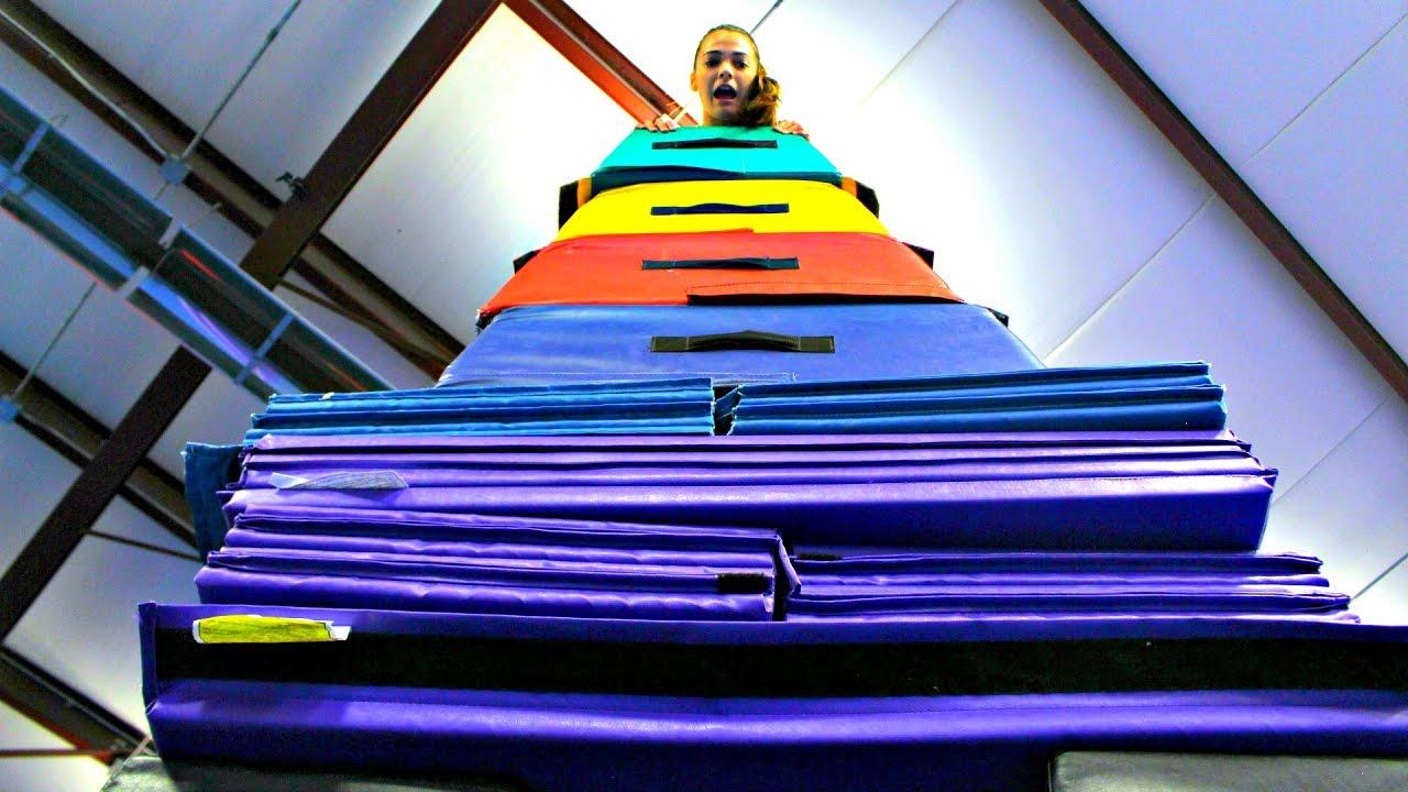 gymnastics-mat-tower