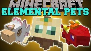 Minecraft: ELEMENTAL PETS (BABY DRAGONS, PHEONIX, & GUARDIAN!) Mod Showcase
