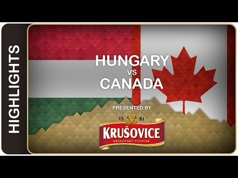 Canada showcases its balanced attack - Hungary-Canada HL - #IIHFWorlds 2016 - 동영상