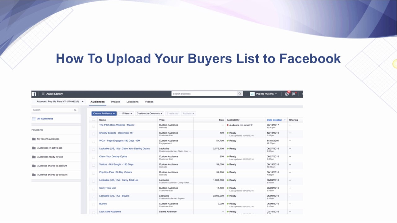 How to Upload Your Buyers List to Facebook