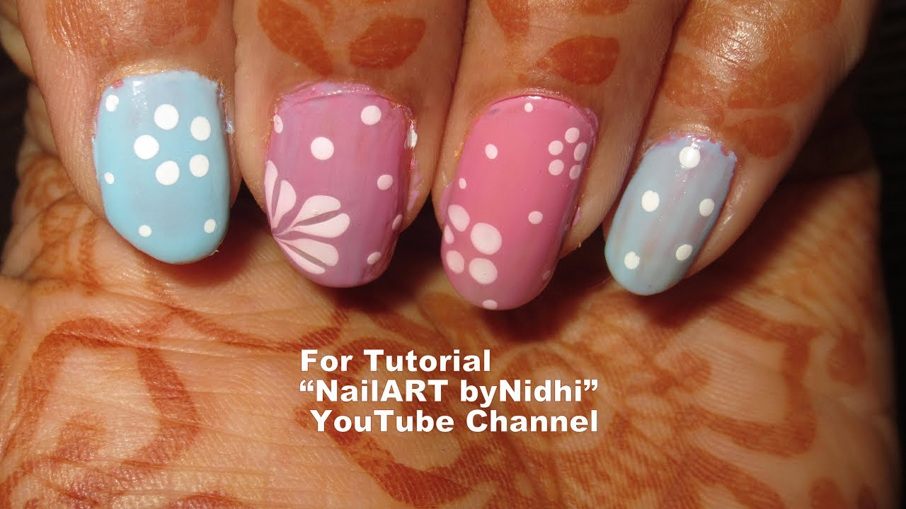 Best And Beautiful Nail Art Creation For Beginers With Tutorial