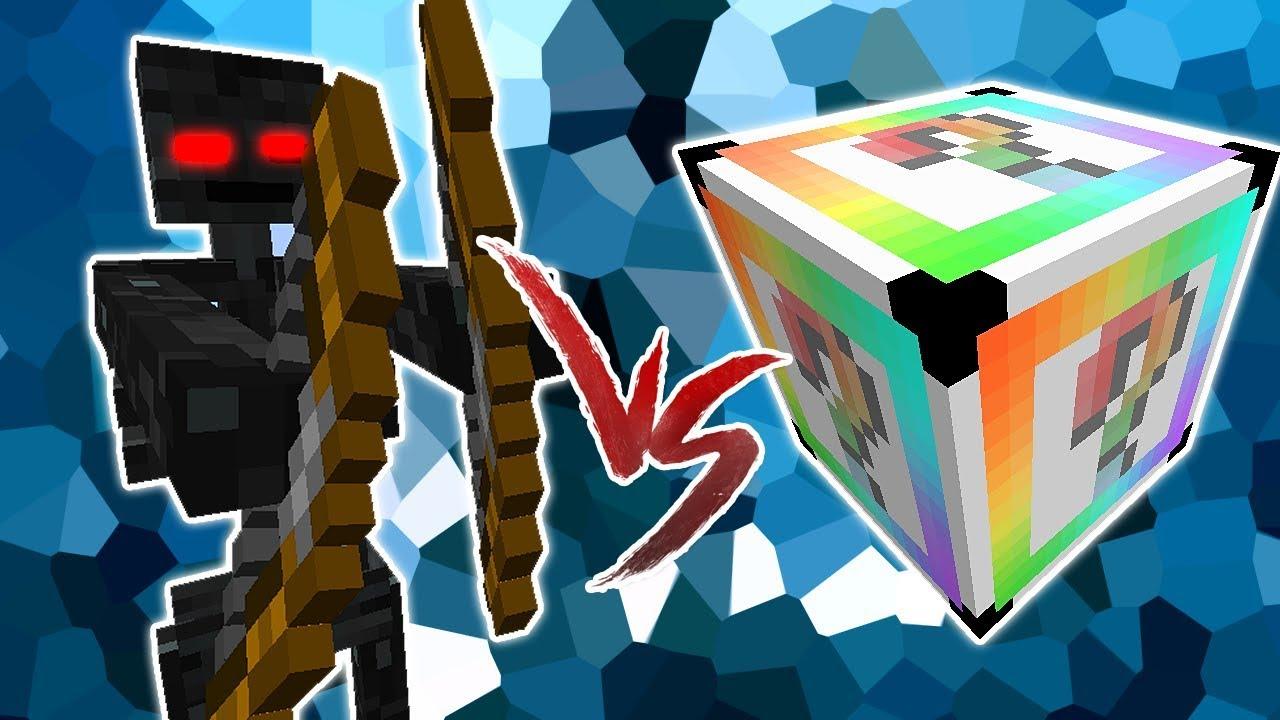 Esqueleto Evoluido Vs Lucky Block Chroma Minecraft Lucky Block