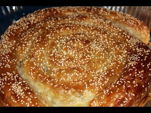 Пирог улитка. Пирог с яйцом и зелёным луком. Пирог из слоёного теста. Моя Dolce Vita