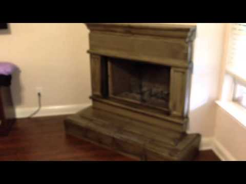 Antique Glazed Concrete Fireplace Hearth and Mantle - YouTube